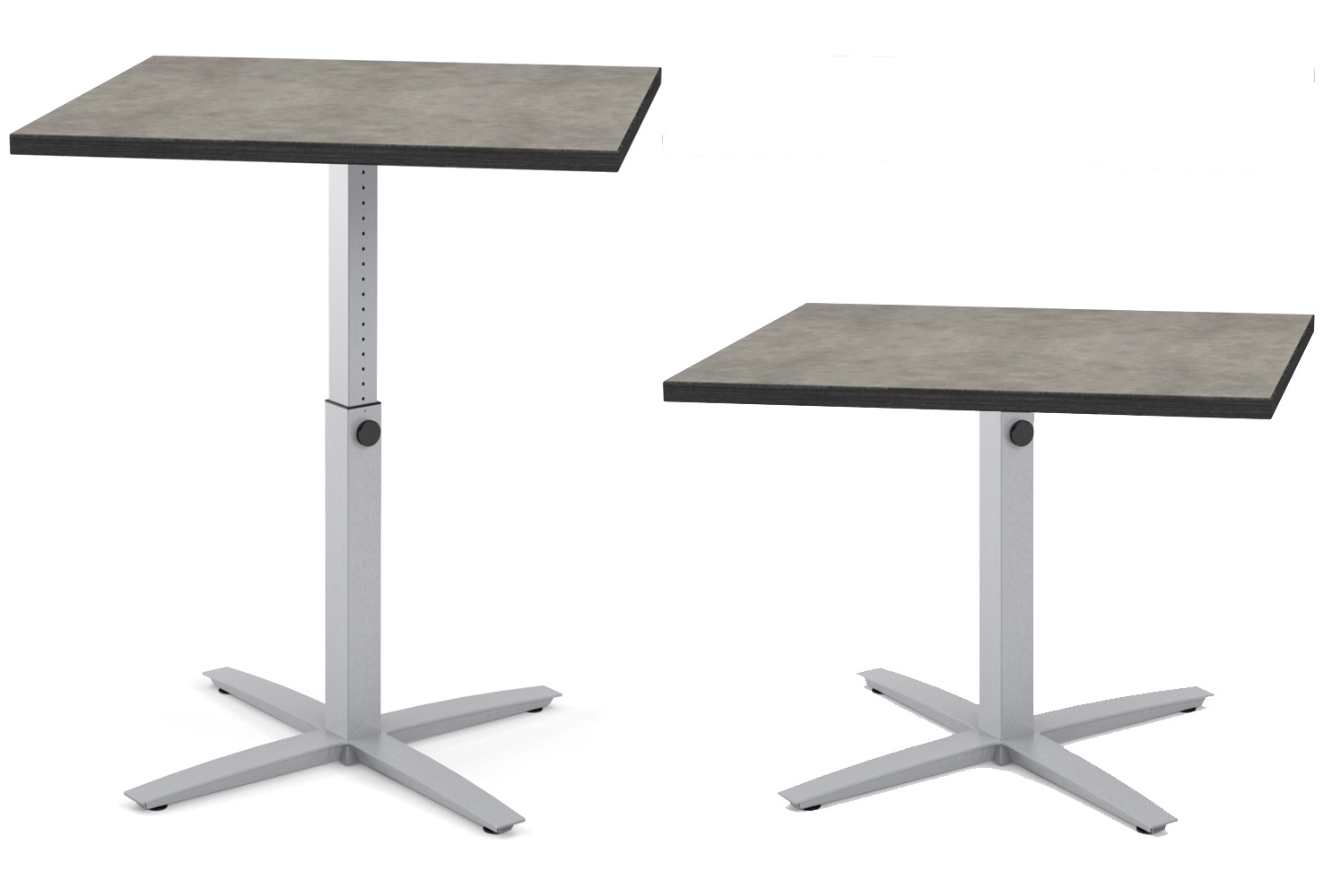 Abby, Healthcare, X-Base, Pin, High Table, Low Table