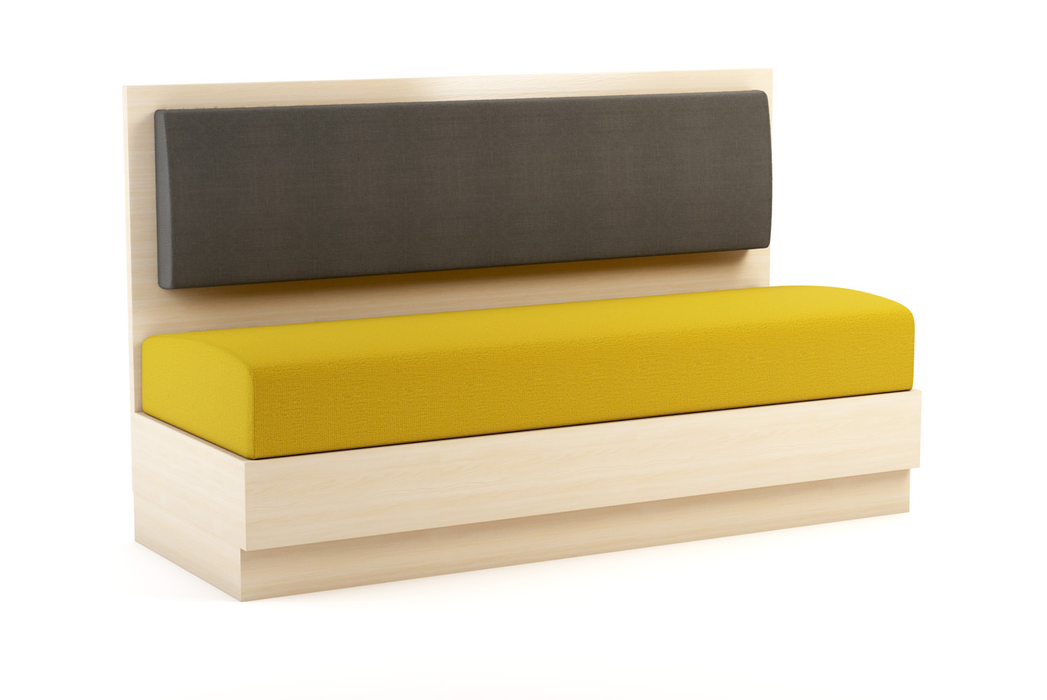 Aristo Banquette, 60 inch, Yellow Seat