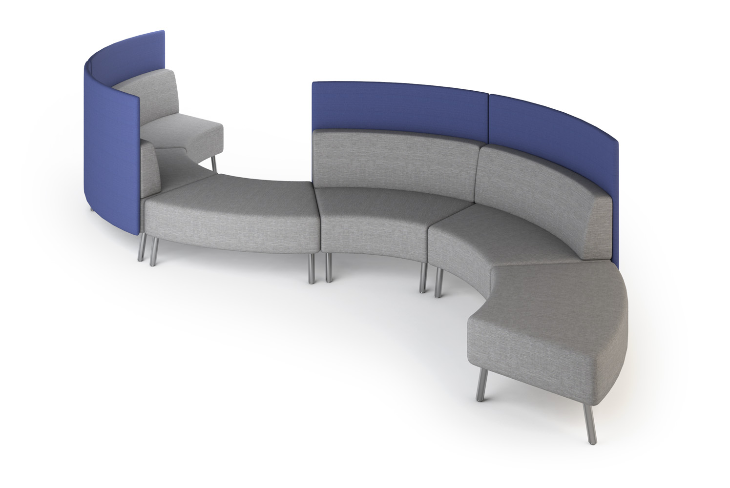 Laguna, Modular, Curved Configuration, Pollows