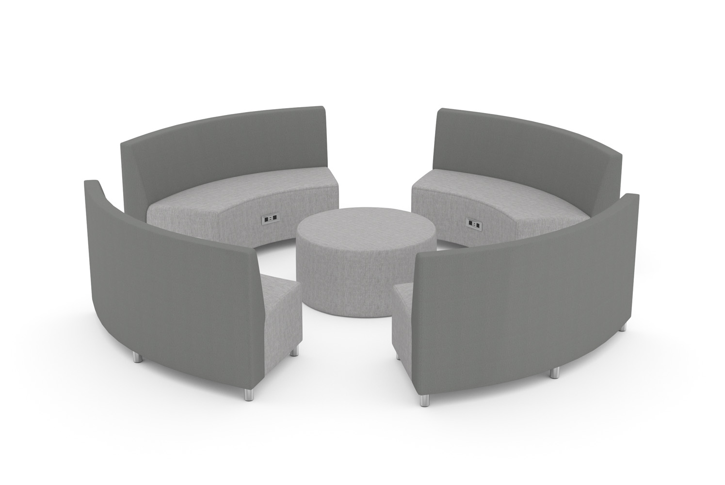 Raven, Modular, Circular Configuration, Cabana Table