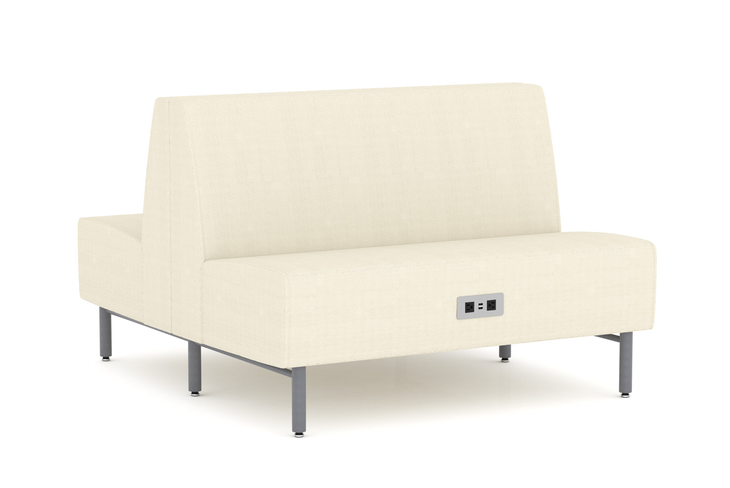 Tivoli, Banquette, Back-to-Back, 48 inch, Power/Data